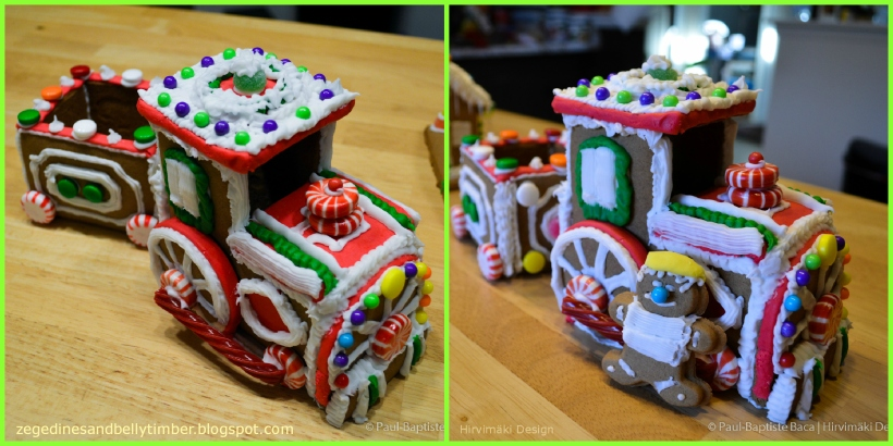 gingerbread locomotive christmas