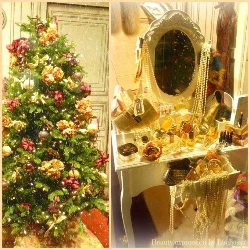 Christmas tree makeup dresser