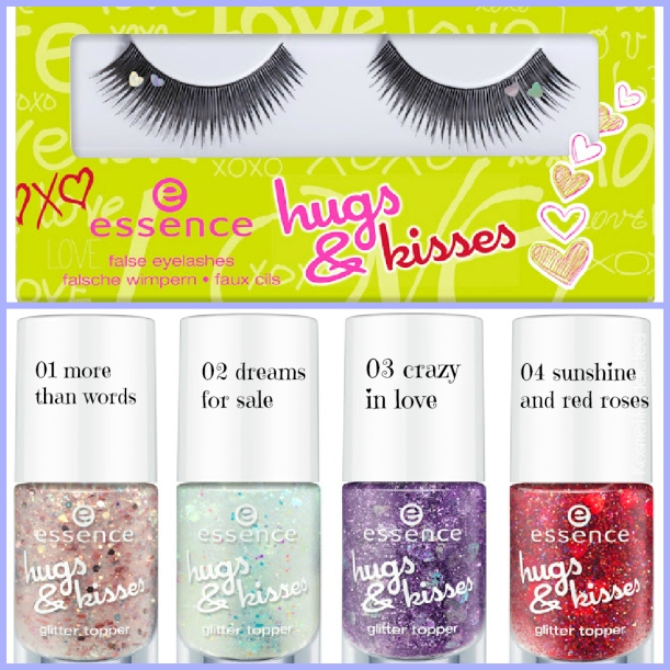 hugs & kisses essence limited edition nail polishes and lashes