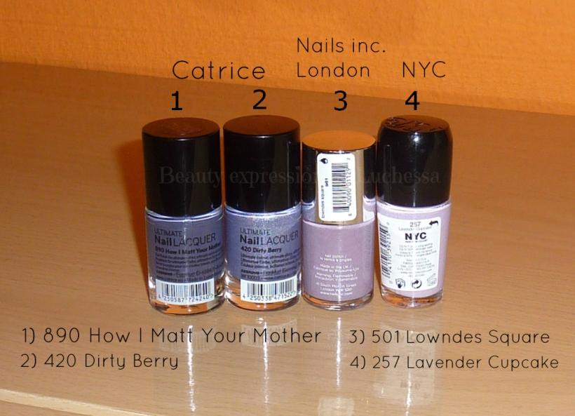 Catrice Nails inc NYC nail polishes
