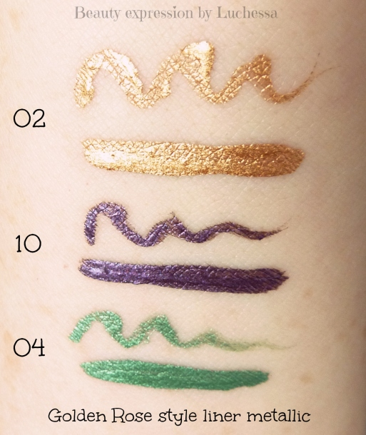 Golden Rose Style Liner metallic swatches