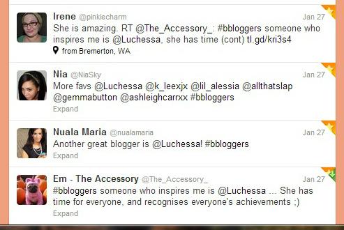 Luchessas favorite tweets