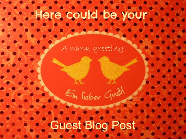 Guest post invitation card