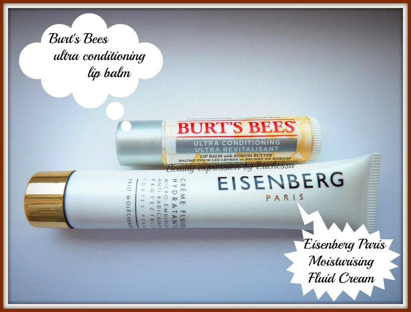 Burt's Bees lip balm, Eisenberg Fluid Cream