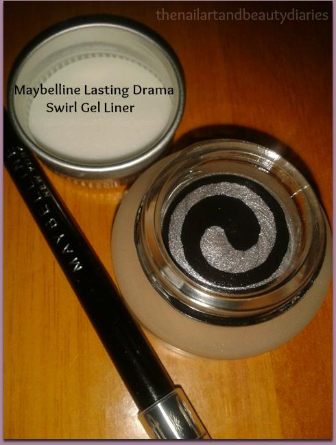 Maybelline Lasting Drama Swirl Gel Liner Black & Silver Tub