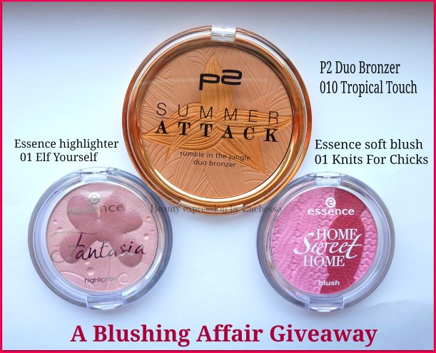 Blushing affair P2 summer attach blush, Essence Highlightter Blush