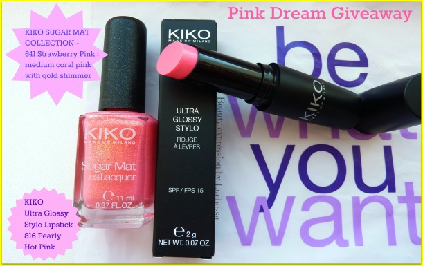 Kiko sugar matt stylo lipstic  giveaway
