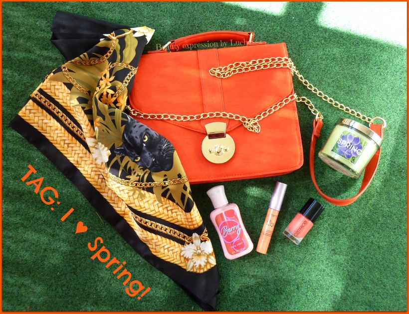 I love Spring tag by Luchessa
