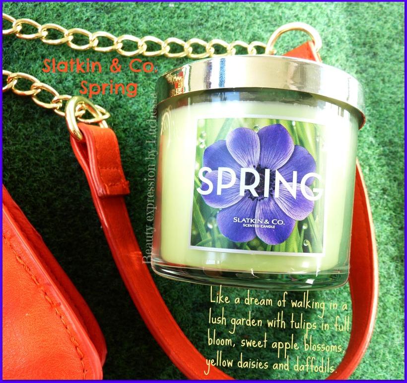 Candle Spring Slatkin & Co Bath & Body works