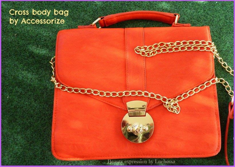 Bright coral orange crossbody bag Accessorize