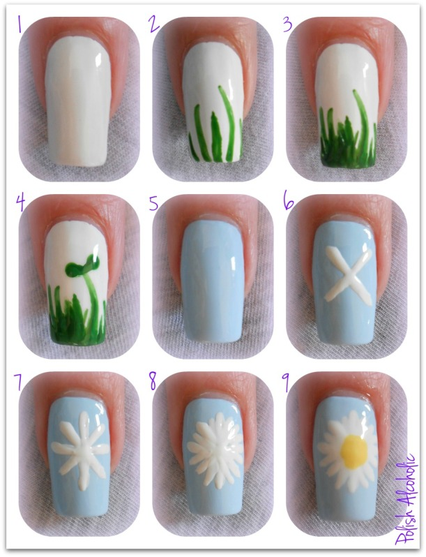 Nail art tutorial spring manicure