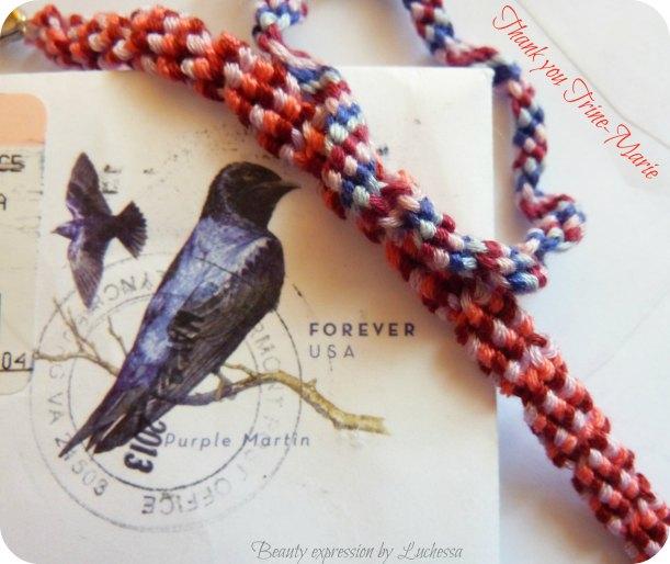 Trine-Maries colorful friendship bracelets