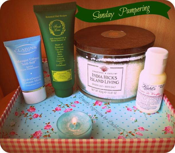 Sunday Pampering bathing salts, facial mask